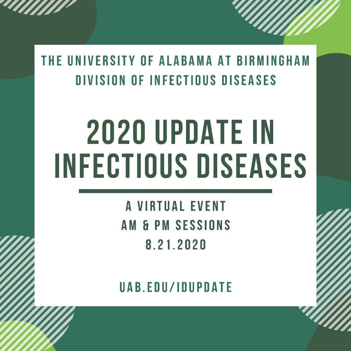 Registration now open for the 2020 Update in Infectious Diseases! fal.cn/395gy