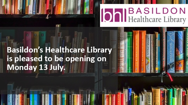 Were pleased to announce that #BasildonHospitals Healthcare Library @bhl_nhs will be opening on Monday 13 July. 📚 #Innovation #Books #Learning #MSETeam #OneTeamWorkingTogether