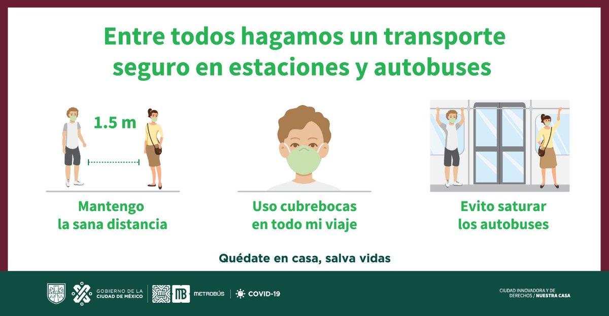 #MovilidadCDMX Entre todos hagamos el transporte seguro.  #SalvaVidas ❤️❤️ #QuédateEnCasa https://t.co/zgUSXZ0NfI