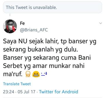 Eaaa.. emang sdh templatenya begitu kali ya, suka ngaku2 NU, tapi benci NU dan Banser,   Yg barusan ketangkep di Wonokromo. https://t.co/vaBapx9cjY