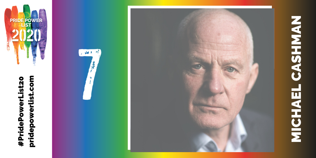 At number 7 on the #PridePowerList20 is @mcashmanCBE! @PridePowerList bit.ly/2VZz9Iq