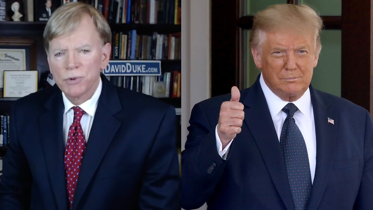 Former KKK leader David Duke endorses Trump on Twitter, wants Tucker Carlson for VP