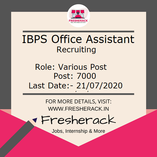 IBPS RRB Office Assistant Recruitment 2020  Direct apply LINK : https://t.co/hNYayM2MtL  Tags #jobs #job #govtjobs #hiring #nowhiring #hiringnow #jobopenings #indiajobs #jobs2020 #RRB #IBPS #Assistant #officeAssistant #OBC #UP #DELHI #Bihar #fresherack #govtjobs #India #banking https://t.co/ZdxvQfuohN