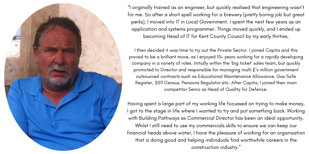 MEET THE TEAM!  We're excited to be getting back to a bit of normality so here's another member of our fantastic team who've been beavering away behind the scenes, introducing Pete Eldridge, Commercial Director!   #ConstructionCareers #BuildingPathways #LoveConstruction