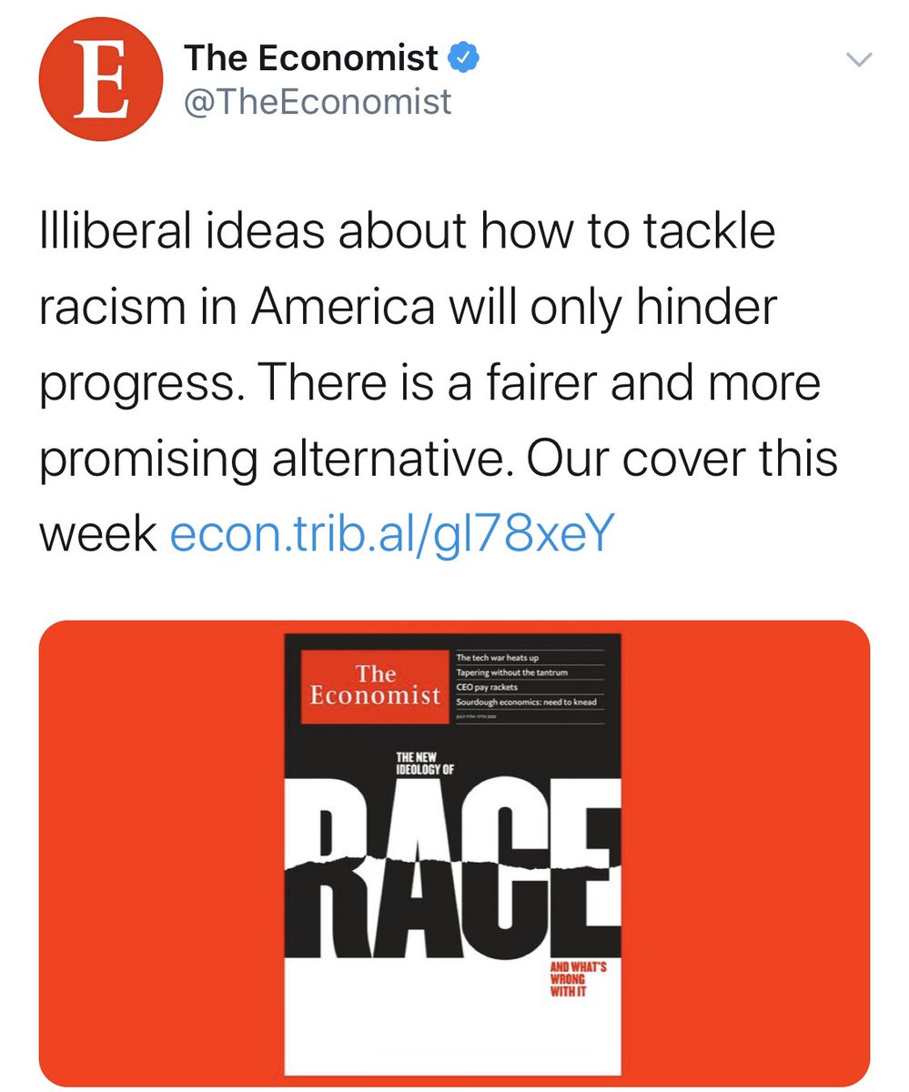 Seeing past editors of @TheEconomist helps me understand its panic about anti-racism.