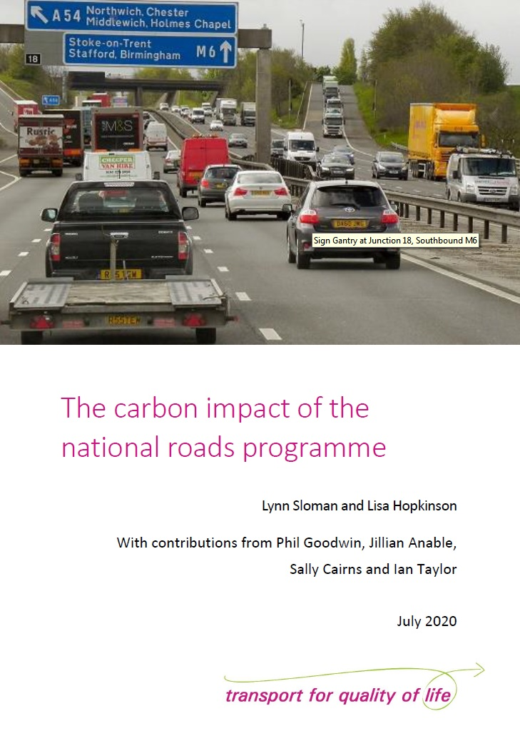Your read for today: ...the roads programme will add 20 million tonnes of carbon dioxide to UK emissions from the Strategic Road Network between now and 2032 whereas those emissions need to be cut by 167 million tonnes to meet climate targets.