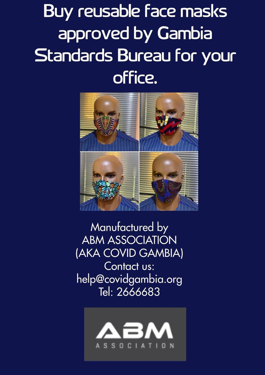 🔴Do you need a certain quantity of quality face masks ? Contact us now! we can supply you with  large quantities #Mask4all 🇬🇲 https://t.co/0EXlZ6tZU4
