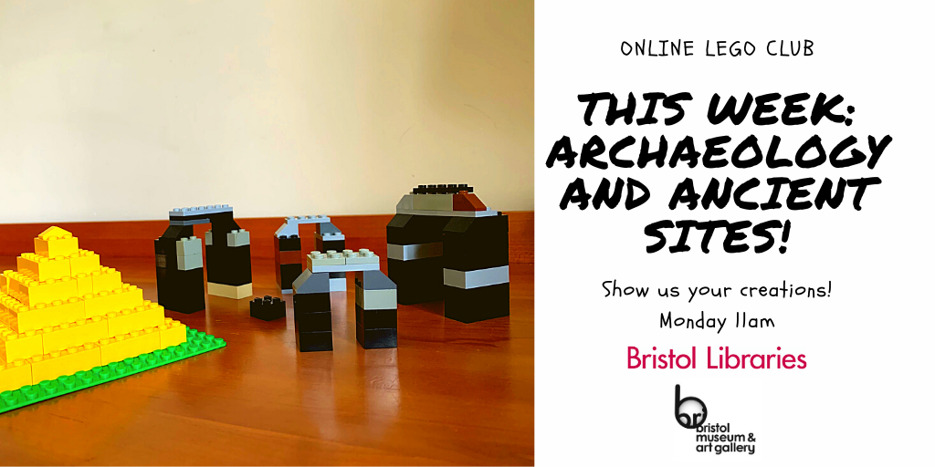 Our #LegoClub theme this week is archaeology! #FestivalOfArchaeology Can you create a Stonehenge? Or a colosseum??  Please reply/tag us with a photo, and your first name and local library. No faces please, just your creations!  : ) #LibrariesFromHome @bristolmuseum @archaeologyuk https://t.co/83O6XsZGkJ