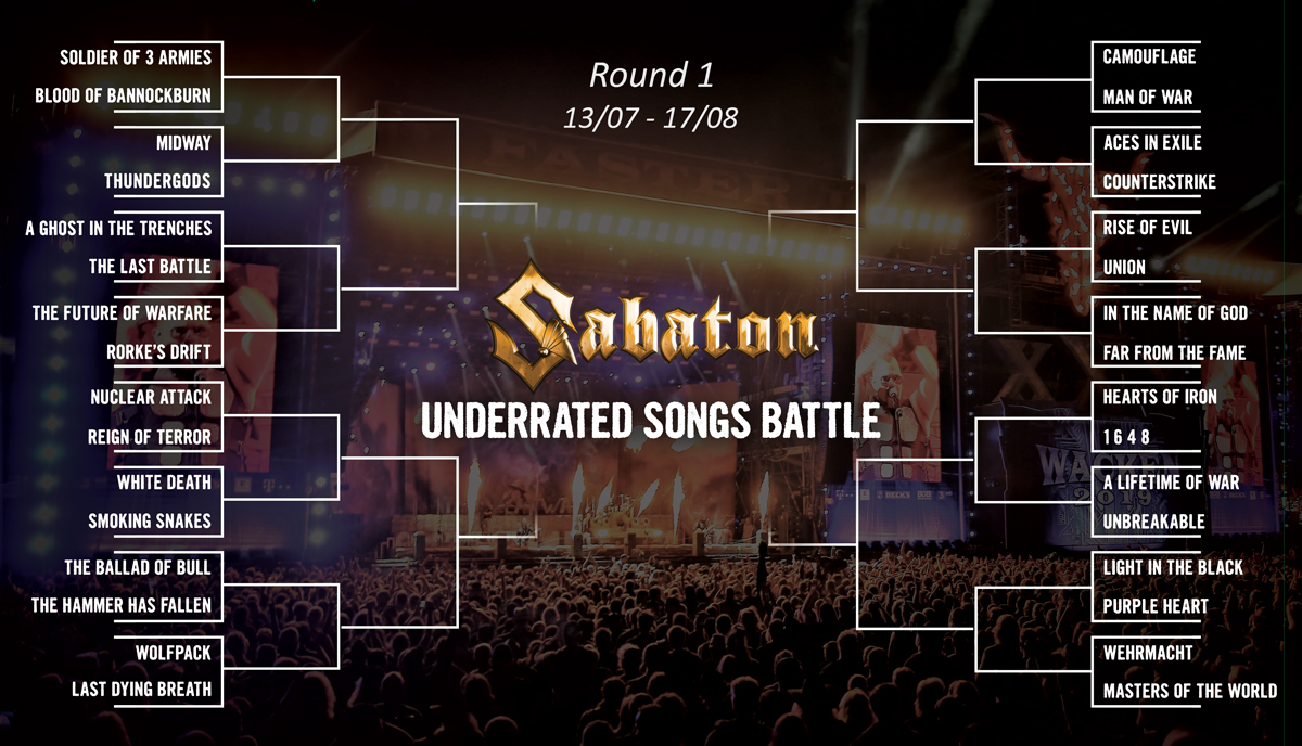 IT'S TIME FOR BATTLE, FRIENDS! Over the upcoming weeks we want your help to decide which of these slightly underrated Sabaton songs deserves more attention. -The first battle will take place on Monday. Will you help us? 🤘 https://t.co/QZDOPP6Rao