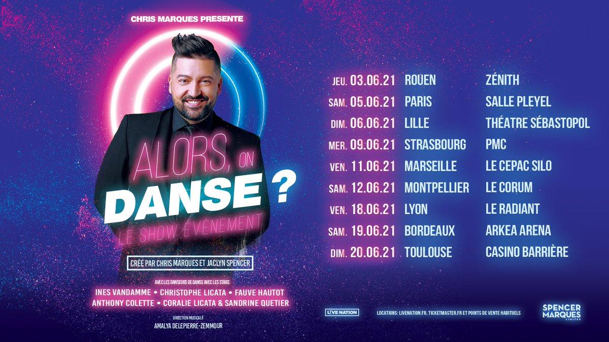 ➖ALORS, ON DANSE ?➖ @LeChrisMarques & @LivenationFR sommes heureux de vous annoncer que le spectacle Alors, On Danse ?  initialement prévu le samedi 12 décembre 2020 à la Salle Pleyel à Paris est
