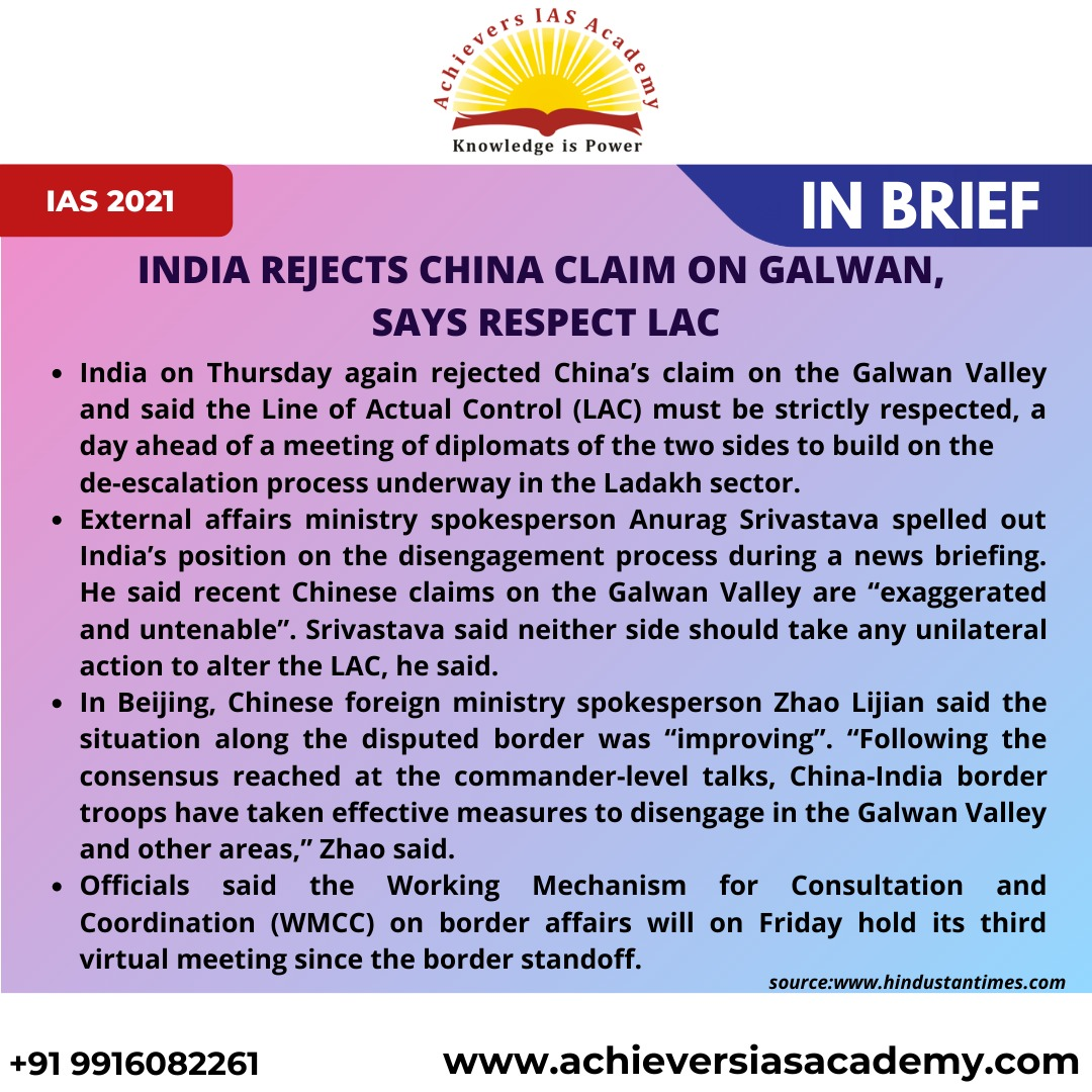 India rejects China claim on Galwan, says respect LAC.  For Registering to our online classes join our whatsapp group: https://chat.whatsapp.com/IbgKLiv2FLyFKLgecH0xWX…   #upscaspirants #upscexam #study #iasofficer #upscpreparation #upsc2020 #upsctopper #cse #prelims #ias #ips #irs #ifspic.twitter.com/xcbhVPyw3g