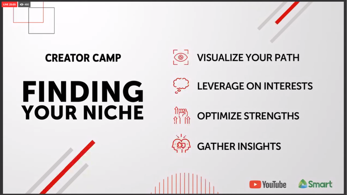 .@AlodiaAlmira shares some tips in finding your niche #CreatorCampLIVE https://t.co/dtdnmEgQge https://t.co/K3UU1GRktK