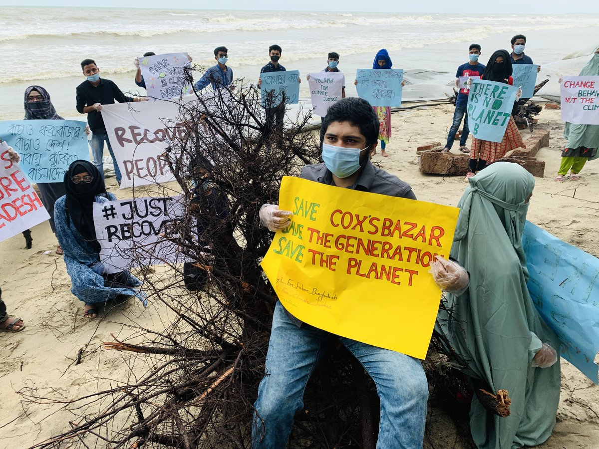 Japanese companies plan to build three New coal power plants on the small coastal island #Matarbari, #Bangladesh, one of the most climate vulnerable countries in the world. We urge to @AbeShinzo to stop financing here!  @GretaThunberg #FridaysForFuture #ClimateStrikeOnline https://t.co/fRSNqSsbDT