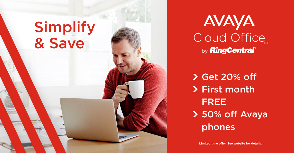 Simplify and save on your business communications with #AvayaCloudOffice. Learn more here and get 20% off: https://t.co/bDUOYM0BQA https://t.co/ci5Ej3DF3z