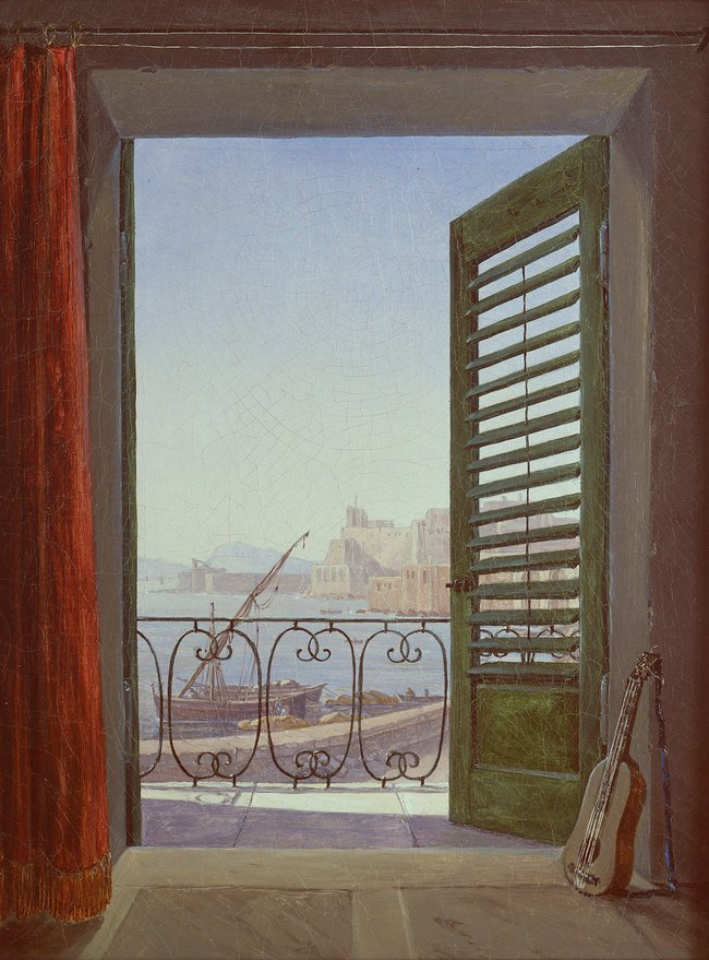 Balcony room with a view of the Bay of Naples Carl Gustav Carus  1829 Alte Nationalgalerie, Staatliche Museem Berlin  Good Friday, folks!   Enjoy upcoming #weekend  #FridayMotivation  <br>http://pic.twitter.com/cNvK7PmbHC