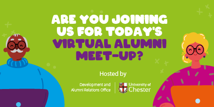 Are you joining us for a coffee & chat this morning? ☕ Our Virtual Alumni Meet-Up goes live at 10.30am! Follow this link to join: https://t.co/kbtgp20R0y You should have received the password in our newsletter. Please email alumni@chester.ac.uk to be added to the mailing list🔒 https://t.co/aMJugCvBtx
