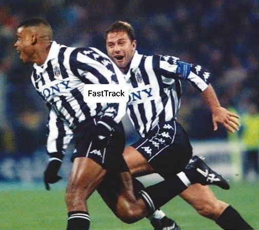 Sunday Oliseh celebrates a goal for Juventus with Antonio Conte  • Sunny is the first African to play for the Italian giants.  #FridayMorning <br>http://pic.twitter.com/RwXOpNDG2I
