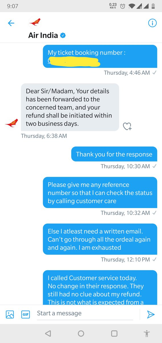 You guys are such a big cheaters. It's been 2 months, yet no word about my refund. A hundred e mails , a hundred calls, a hundred tweets is all it takes to get refund. Yet u guys are clueless . #airindiacheats #airindialootspic.twitter.com/38req5mhVk