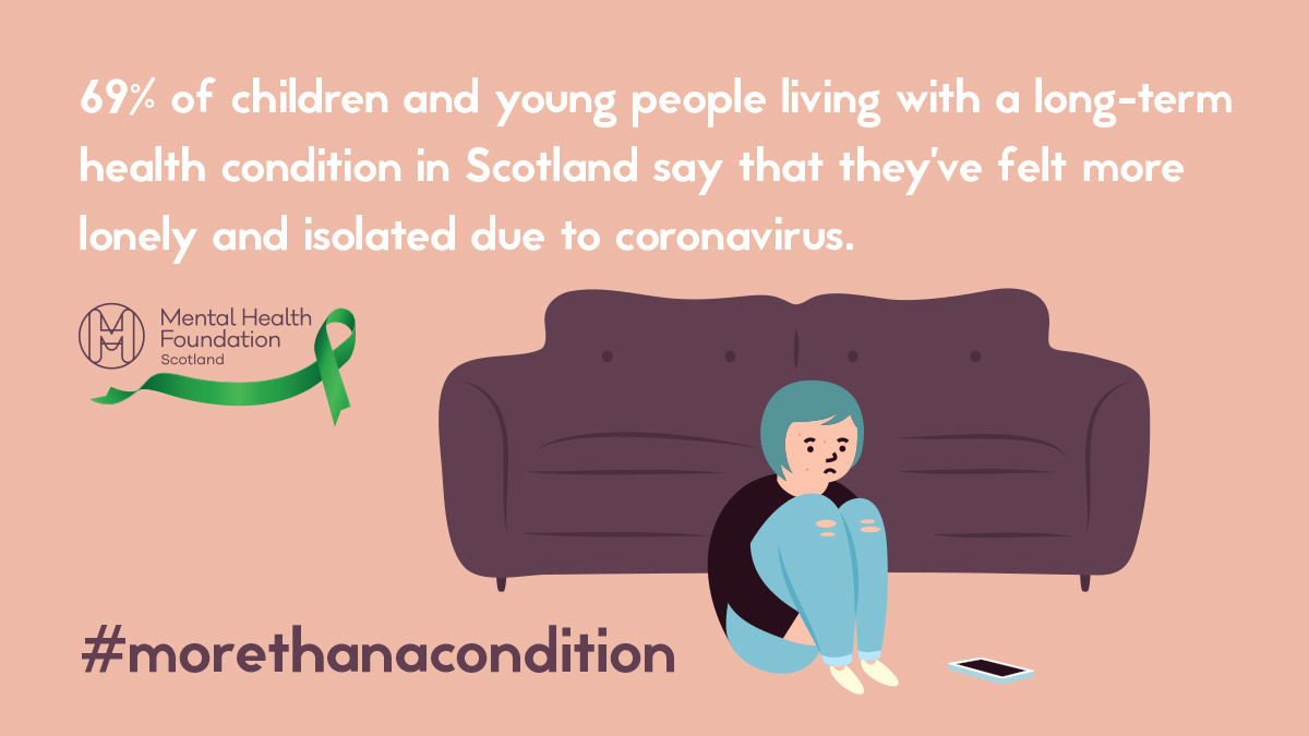 👀Some conditions might be invisible, but the risks and their impact are very real for young people.  💚We are asking everyone to be mindful of this when talking about COVID-19.   📣Be kind, compassionate and remember that they are #morethanacondition   Source: @ChildHealthScot https://t.co/BKz0HKKHhe