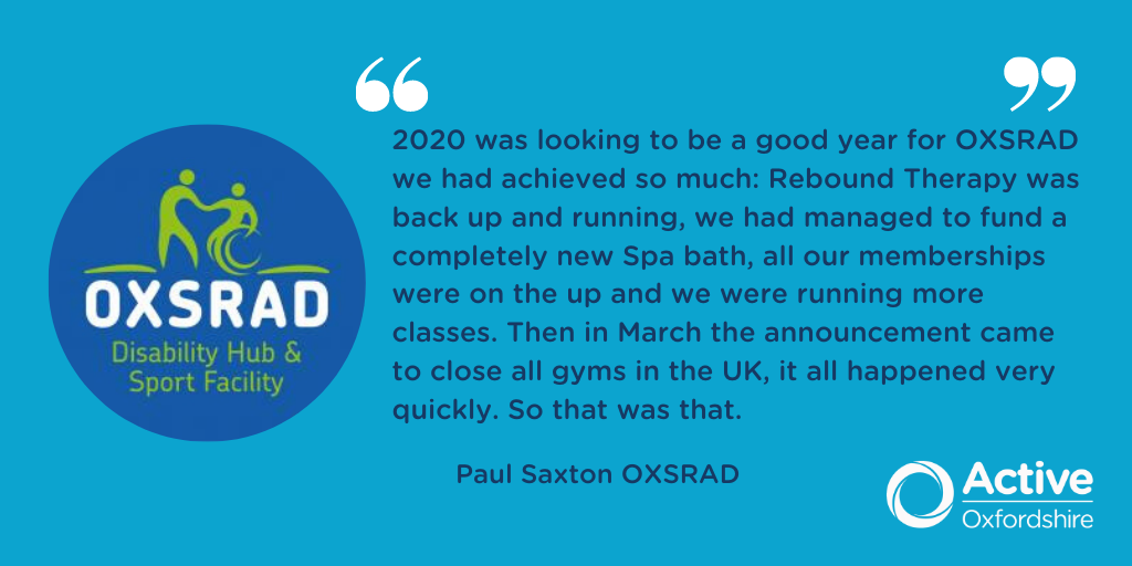 As lockdown is eased, keeping active whilst still not being able to use the facilities #Oxfordshire offers can come with challenges. Paul Saxton, the manager at @Oxsrad explains what they've been doing to ensure all members keep active: https://t.co/JWIA1mk9c2 #FightingInactivity