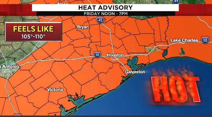 Heat Advisory Today Noon - 7 PM!   #go2weather