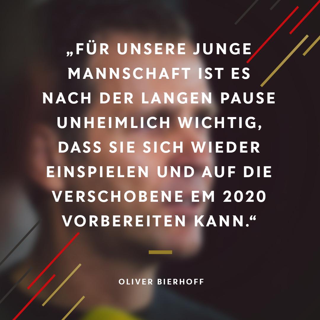 Oliver #Bierhoff zu den anstehenden Länderspielen. 💬  #DieMannschaft https://t.co/2b5vhWZa9Q