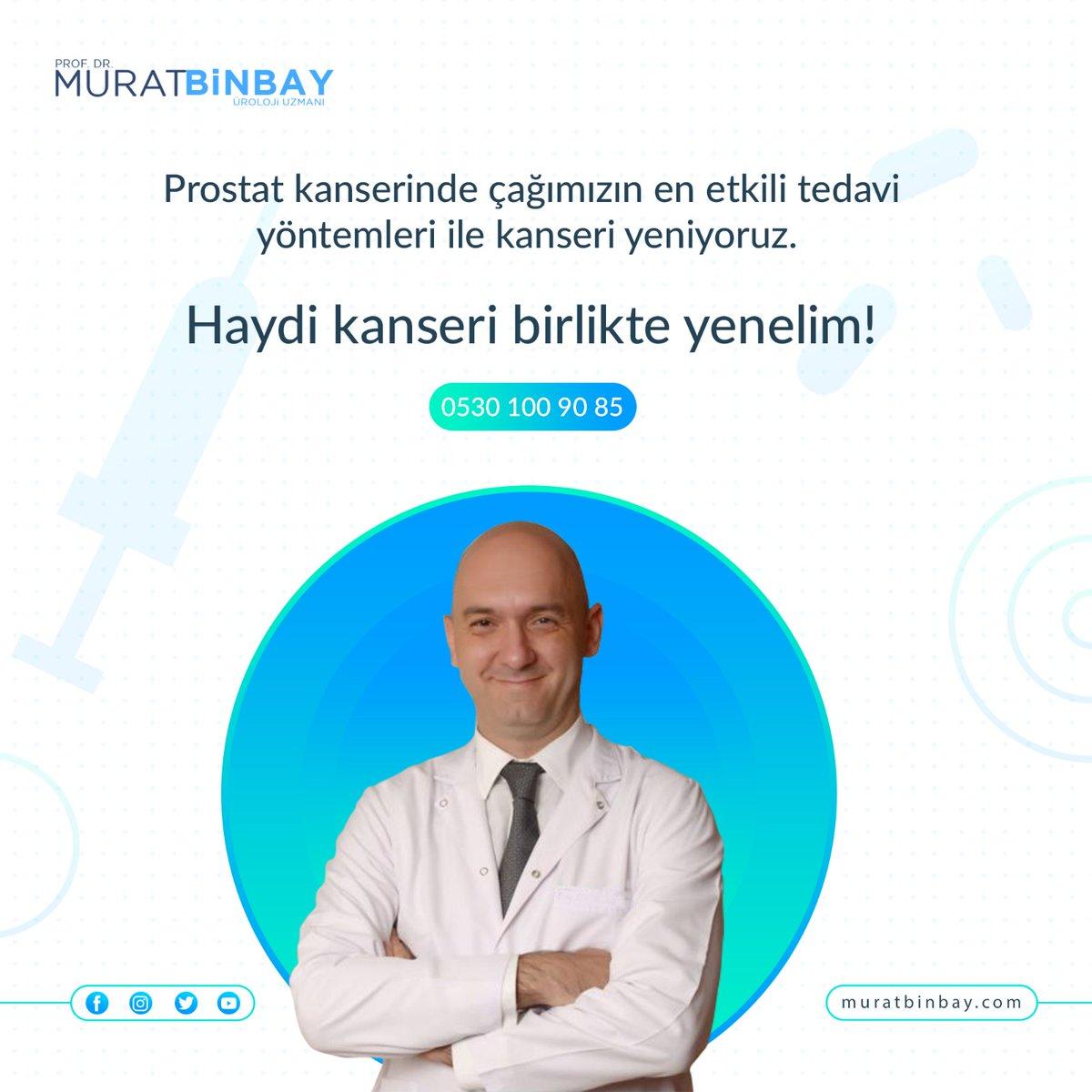 Prostat kanserinde çağımızın en etkili tedavi yöntemleri ile kanseri yeniyoruz. Haydi kanseri birlikte yenelim!  https://muratbinbay.com/  #muratbinbay #prostatkanseri #kanserlesavaş #sağlıkpic.twitter.com/pkHSuUKD3k