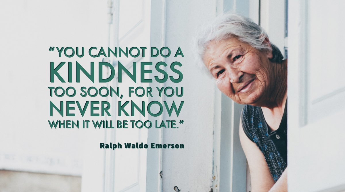"""""""You cannot do a #kindness too soon, for you never know when it will be too late."""" —Ralph Waldo Emerson #quote  #FelizViernes #growWithCS    @ilovequotebooks @JETAR9 @peac4love @W_Angels_Wings @BookChat_ @lorimcneeartist @LeadersBest @SuzanneLepage1 @LEAD_Coalition @RaulWever https://t.co/AeqNfc6NQ6"""