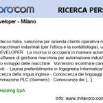 Image for the Tweet beginning: Nuova offerta di #lavoro Software developer
