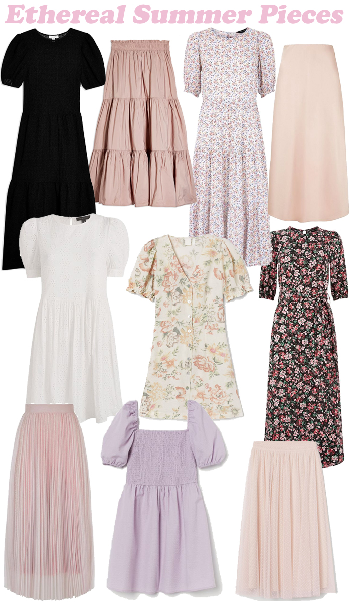Ethereal Summer Pieces    #fbloggers #ethereal #stylepost  #etherealaesthetic #layers #floaty #pink #summer #topshop #hm #hmstyle #newlookfashion