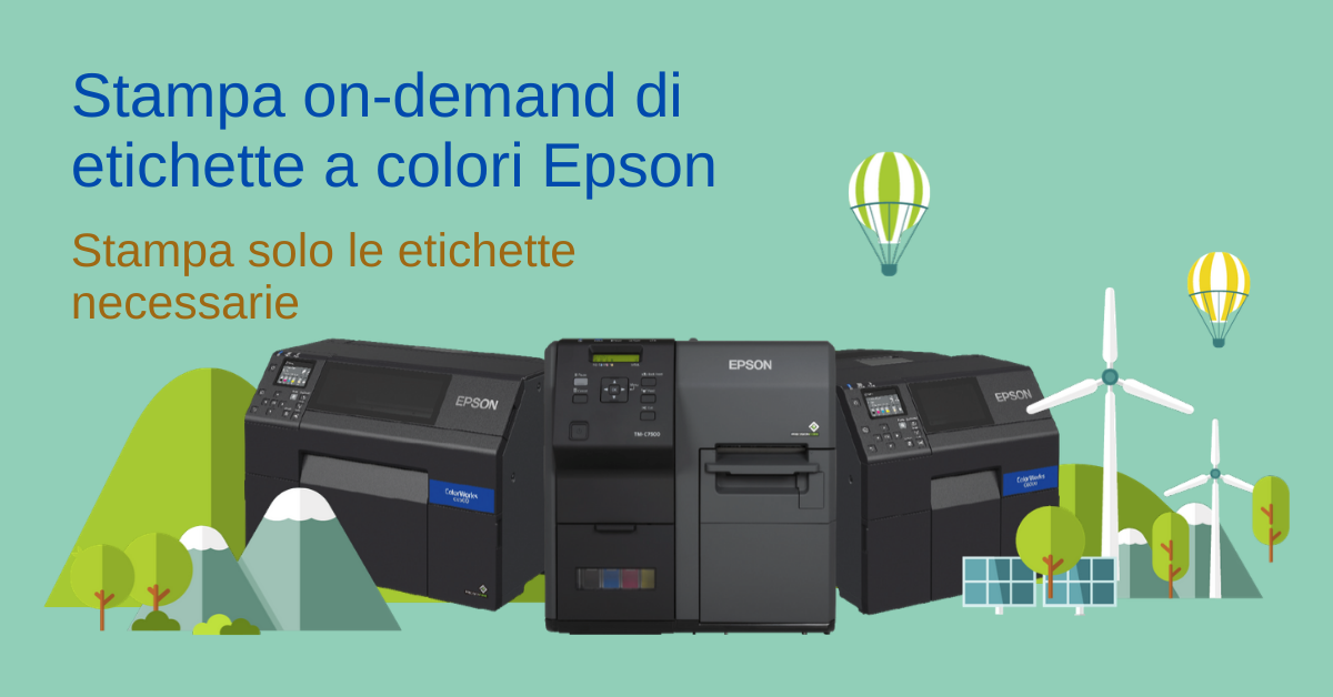 Con #Epson #ColorWorks puoi #stampare #on-demand le #etichette che ti servono, utilizzando la codifica dei #colori per consentire una facile identificazione del prodotto e ridurre gli errori di prelievo. Scopri di più! https://t.co/qbMnd7zunf https://t.co/fYbVIY3khz