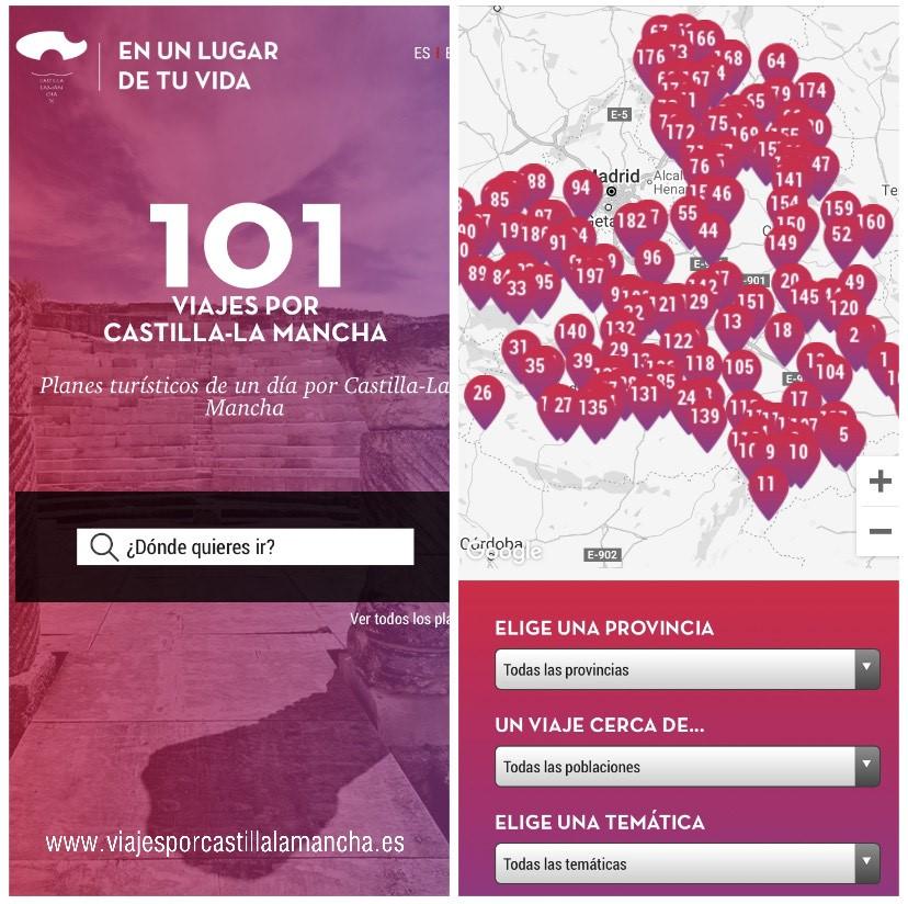 Más de 101 viajes por #CastillaLaMancha  Elige tu plan de un día y conoce el #patrimonio la #naturaleza la #gastronomía, #artesanía y mucho más 😃  https://t.co/YOYuPvyVlQ https://t.co/P6EeZjAi51