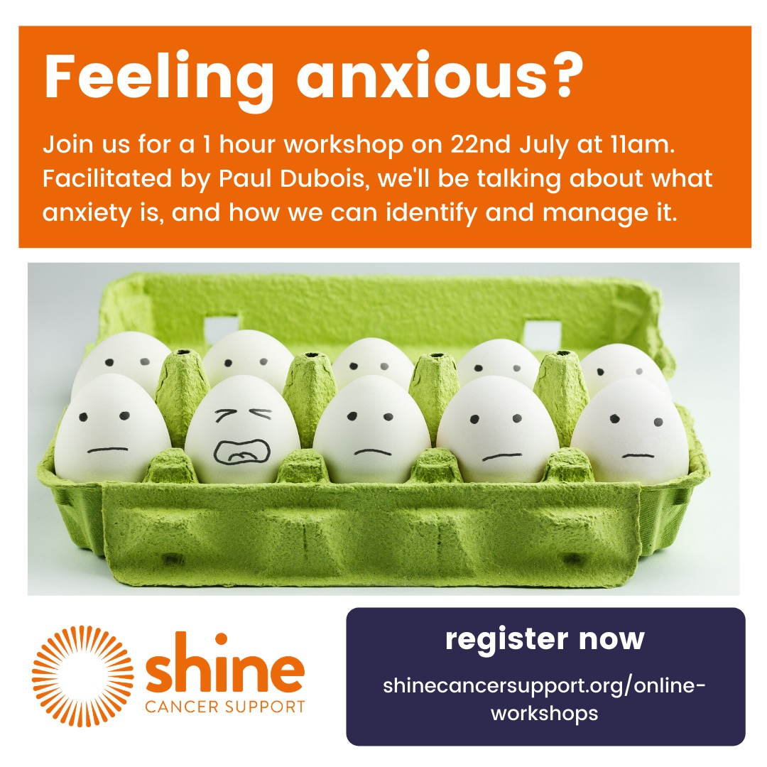Join us for a free workshop to help you understand and manage anxiety. Delivered by Paul DuBois, an award-winning facilitator and coach, who writes a regular self-help coaching blog titled OWN YOUR SH*T.  https://t.co/JtVrQTgGNH #noonealone #youngadultcancer #cancersupport https://t.co/kK24AOrTmL