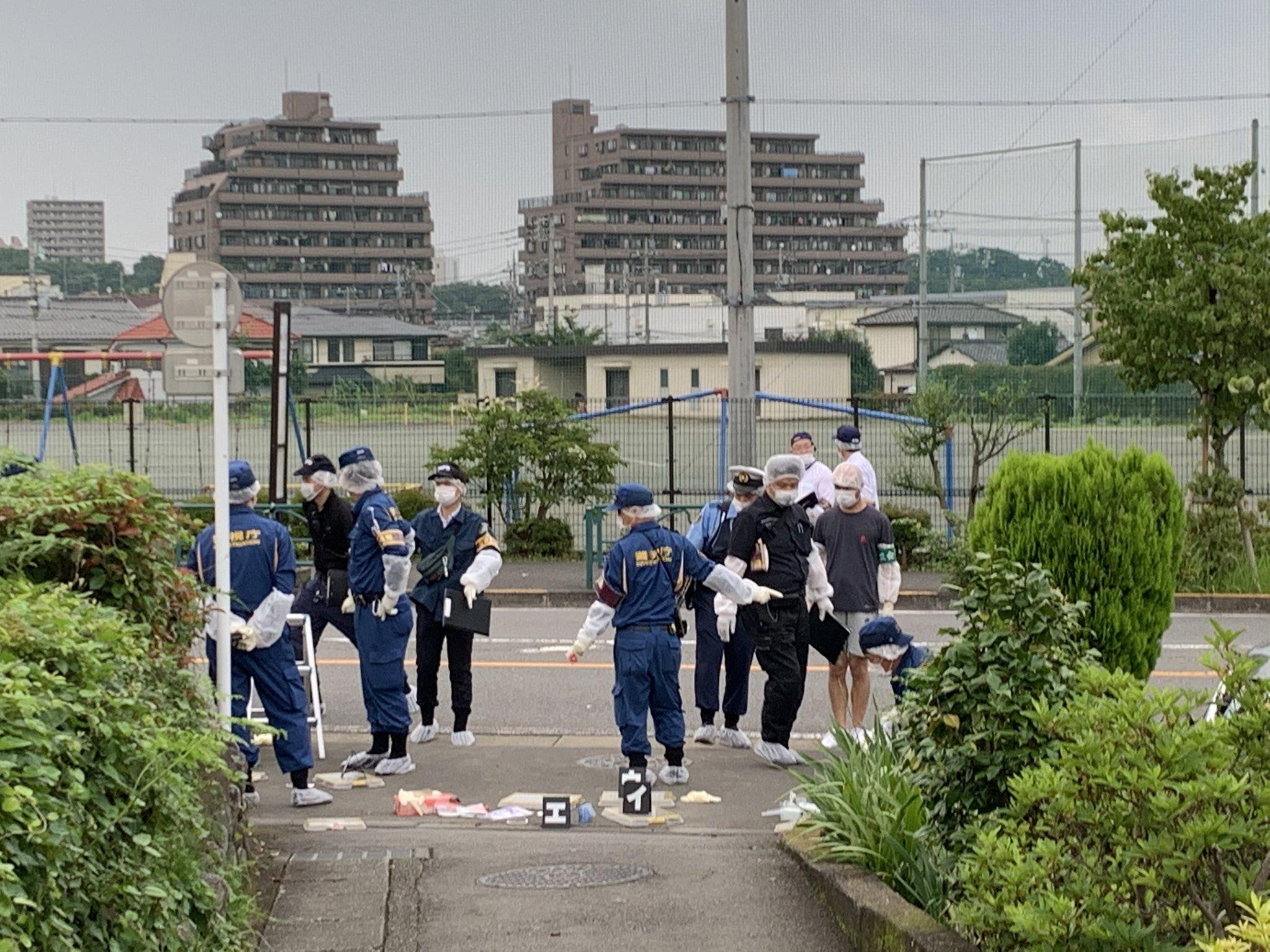 青梅市長淵の殺人未遂事件現場の画像