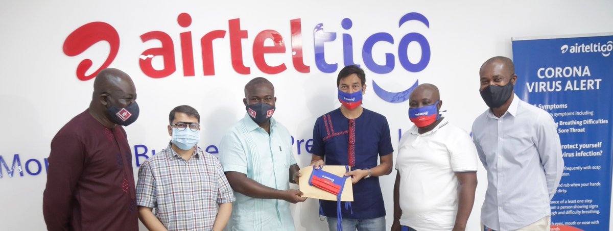 """""""We sincerely appreciate their contribution of 5,000 masks and entreat other Corporate Institutions and individuals to follow their worthy example as protecting the vulnerable among us against COVID-19 is protecting ourselves.""""  #SpreadCalmNotFear #Mask4All #COVID19Ghana https://t.co/nIjwuKnhIB"""