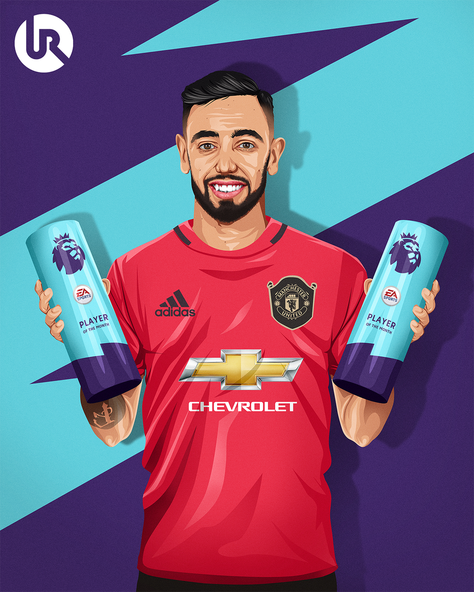 Bruno Fernandes becomes the first Manchester United player to win back-to-back Premier League Player of the Month awards since Cristiano Ronaldo in 2006 🇵🇹 https://t.co/go3KIe7JBJ