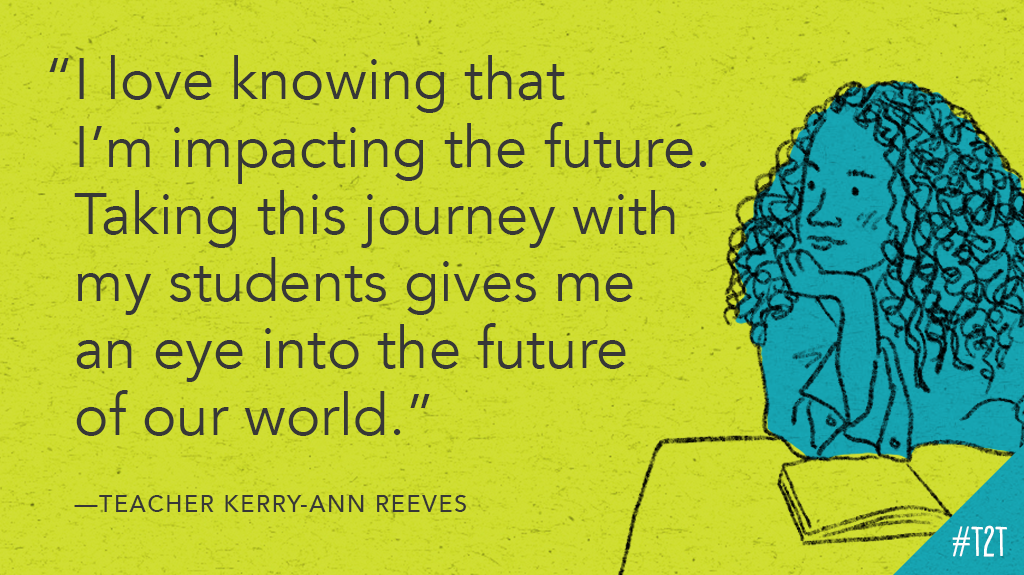 A reminder via T @KerryAnnReeves4: You shape the future every day. #tlap #TeacherLife