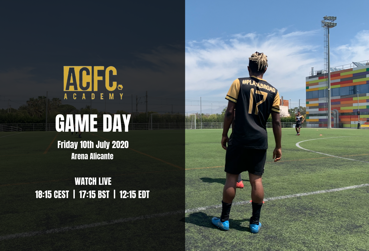 Live football from Alicante this afternoon as @SpainAcademy take on @AlicanteCityFC under 19s.  All of our academy games are streamed to give our players exposure to scouts globally.  📅10th July 🕖18:15 (CEST) 📌Arena Alicante 📺https://t.co/qUKrN0sp0J https://t.co/OXer5RgkJ0