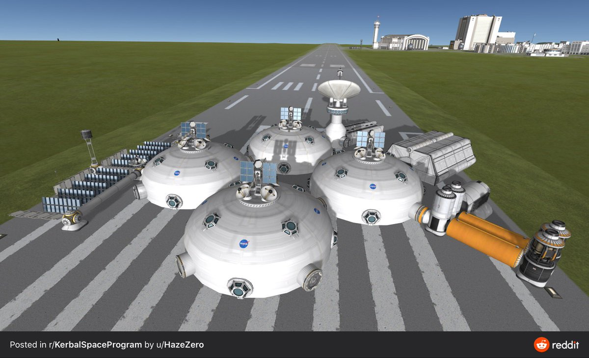 In KSP 1.10 update, all of your Dome Colony dreams are now possible! 😌 Crafted by u/HazeZero  https://t.co/BEl7NipMnq https://t.co/FC0f065ons