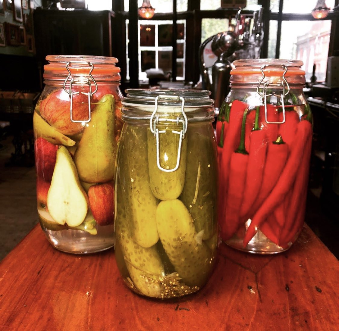 The pickle family are back!!!!  . Get ready to taste our new recipes when we fully open on the 20th July 🙌🏽 . #pickles #barsnack #picklelover #pickleme #spicypickle #newmenuitem #yummy #foodie #highbury #upperstreet #foodlover #pickledveggies #picklesarelife #traditionalpub https://t.co/RkKaRX01xd