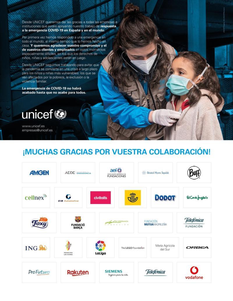 Desde #SiemensEspaña, nos gustaría devolver el agradecimiento a @unicef_es por su gran labor en la lucha contra la pandemia.  Gracias a la colaboración de nuestros empleados, hemos aportado nuestro granito de arena en esta campaña.   #TodosJuntos podremos vencer al virus. https://t.co/dViiJYimLQ