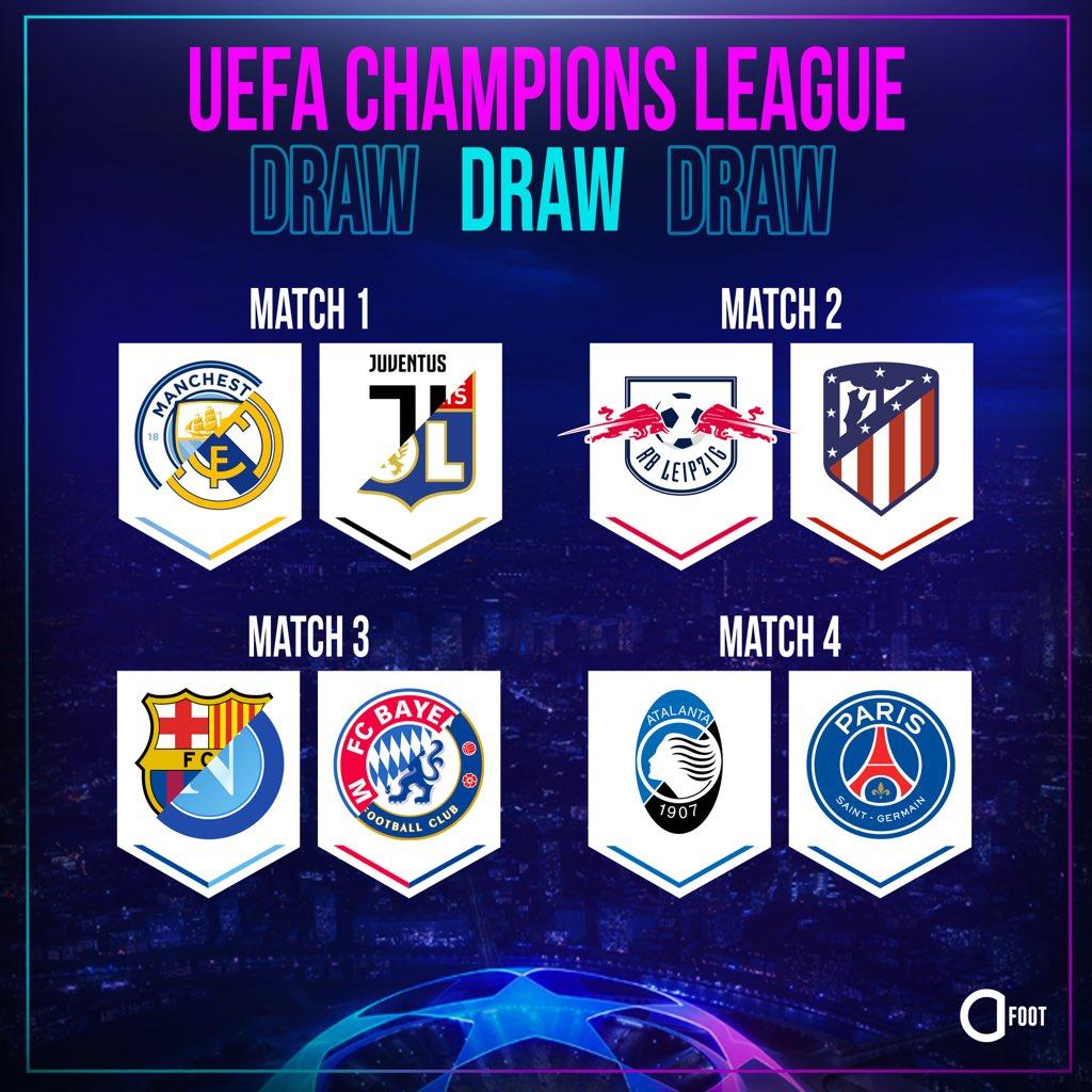 🔴 OFFICIEL ! Le tirage complet des quarts de finale de la Ligue des Champions !