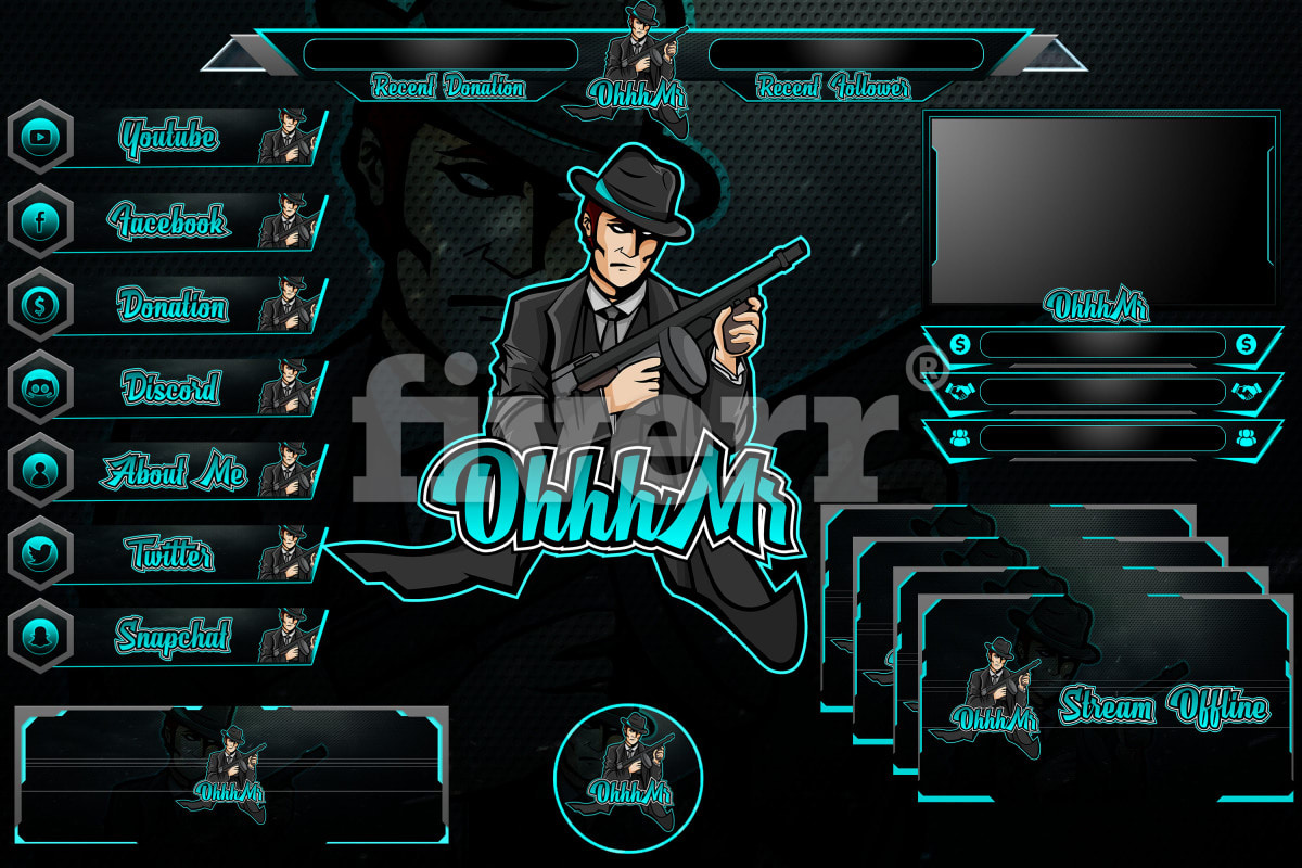 Custom Made Bulletproof TWITCH Logo with Full Overlay!!!  Get it done on Fiverr with my special 20% OFF Coupon when you register using my link here: http://ninjalogodesigner.com/twitchoverlay    #twitchstream #pubg pic.twitter.com/XHqVVdowgG