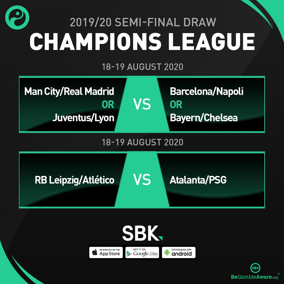 OFFICIAL: The Champions League semi-final draw.  #UCLDraw (@SBK) https://t.co/kWMSU7RmoV