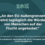 Image for the Tweet beginning: Die griechische Küstenwache schiebt laut