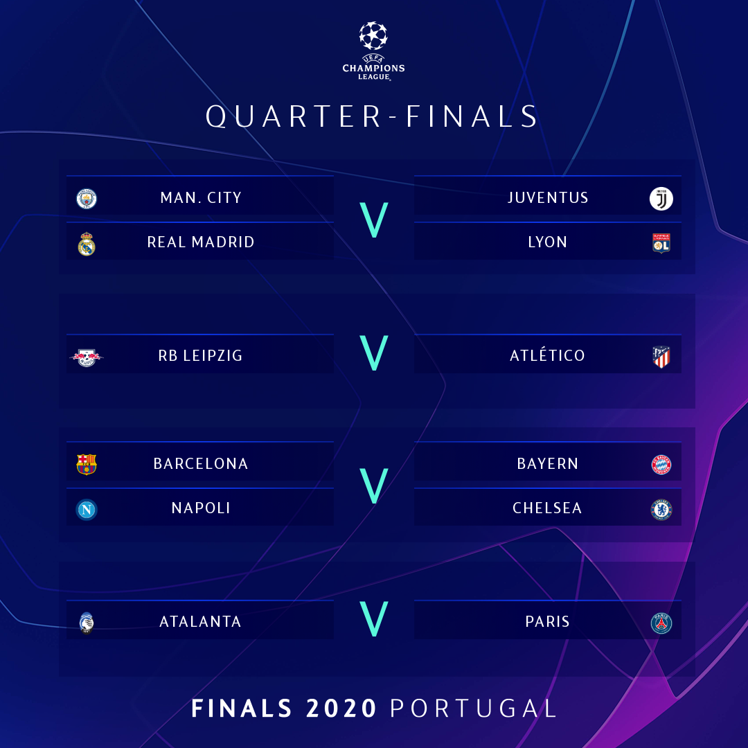 Uefa Champions League On Twitter The Uefa Champions League Draw Is Complete Who Will Lift The Trophy Next Month Ucldraw
