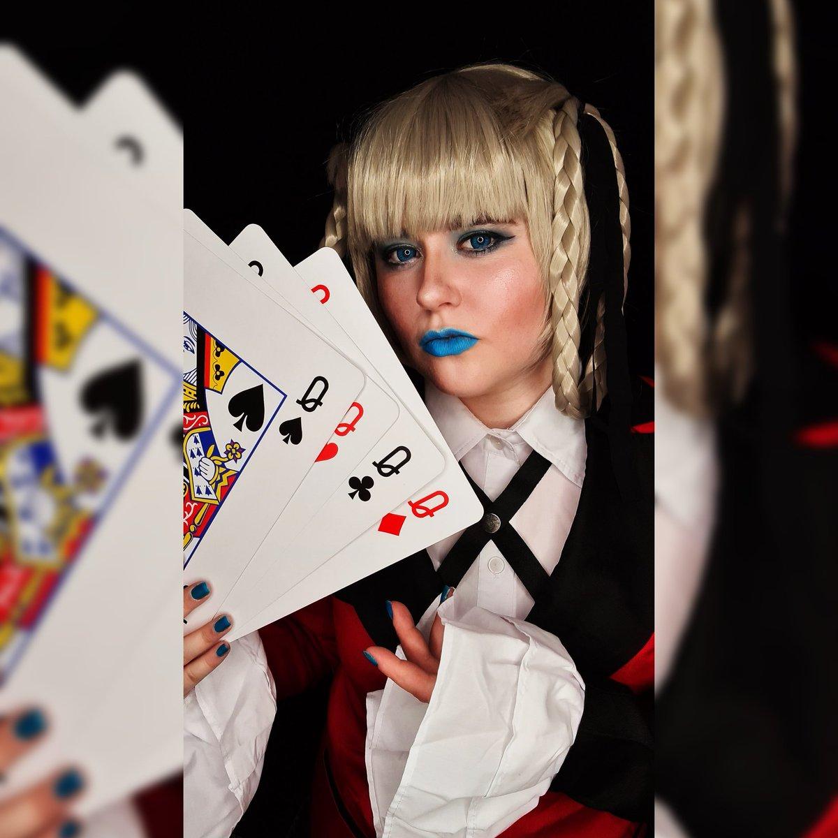 'Show me your cards?'  #kakegurui #kakeguruicosplay #kakeguruikirari #kirarimomobami #kirarimomobamicosplay #kiraricosplay #gambling #netflix #studentpresident #anime #manga #cosplay #cosplaygirl #cards #poker #addictionpic.twitter.com/AyqFUMjJka