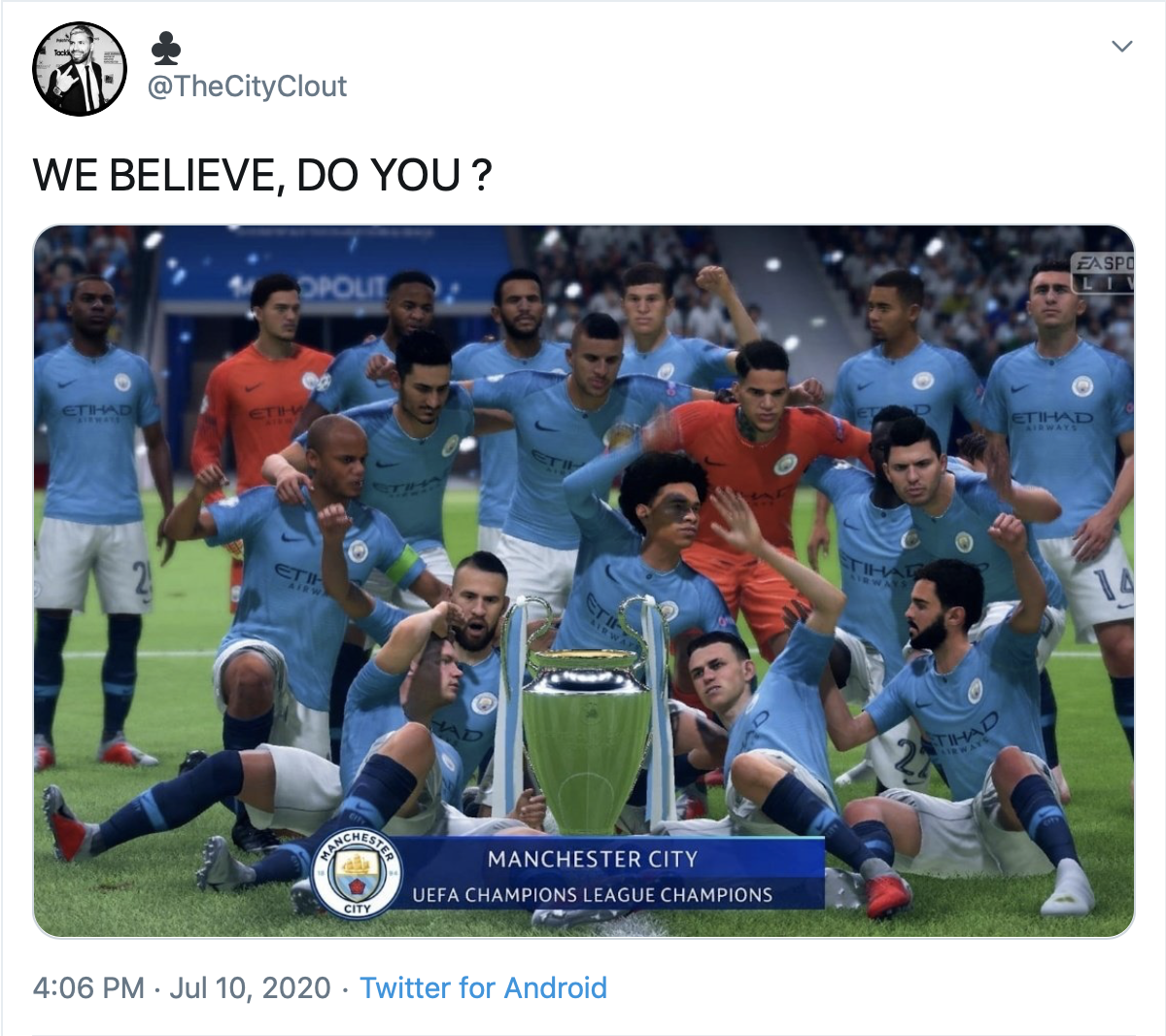 When you have to use an image from FIFA because there is no real image of you with UCL trophy. https://t.co/dV65Pca4TH