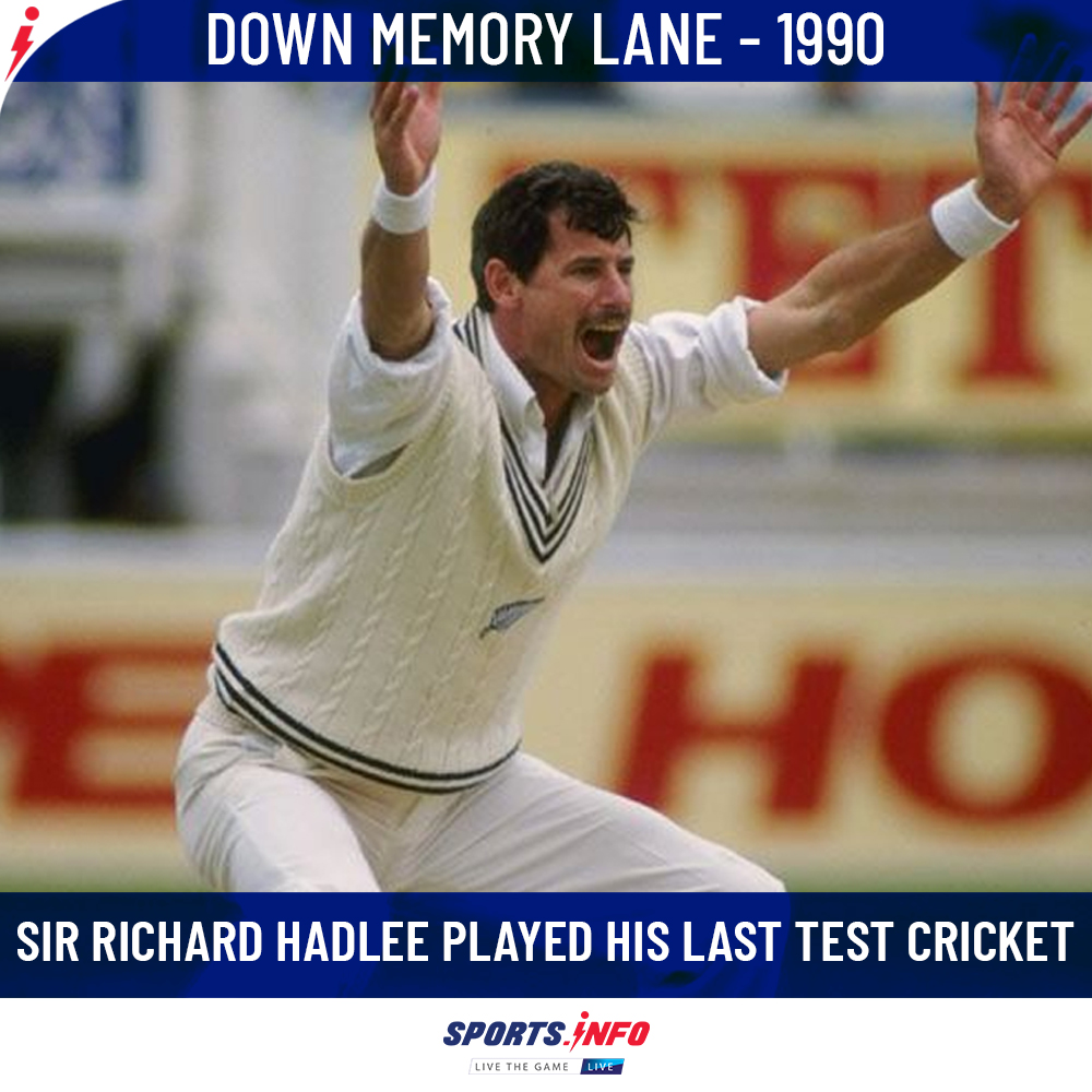 #OnThisDay: Richard Hadlee's last Test match came against England in Edgbaston.  . . . #RichardHadlee #DownMemoryLane #Testmatch #ENGvNZ #SportsDotInfo <br>http://pic.twitter.com/1D5iZ7tKee