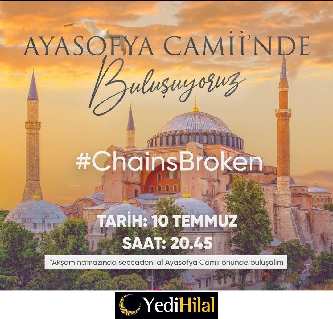 #AyasofyaCamii #mosque #FatihSultanMehmet #istanbulFethi @YediHilal @YediHilalist @YediHilalArtvin https://t.co/OZVk5KxWpg